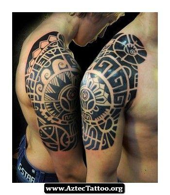Aztec Tattoos On Shoulder 02 - http://aztectattoo.org/aztec-tattoos-on-shoulder-02/