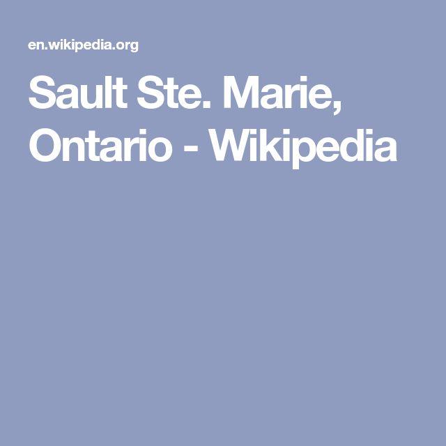 Sault Ste. Marie, Ontario - Wikipedia