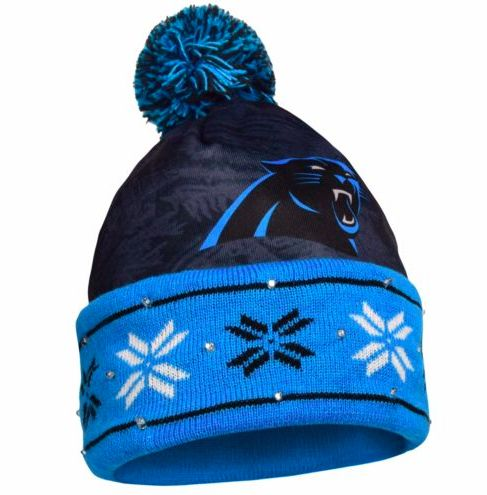 Carolina Panthers Hat - LED Lighted Big Logo Beanie