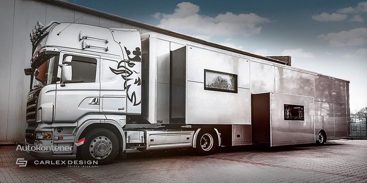 """This Carlex Design Truck Redefines The Word """"Stylish"""" Carlex Design in partnership with the Polish Autokontener has released a stylish truck trailer and it looks pretty special. Would you mind traveling in this Carlex Design truck?Carlex Design Truck Do you remember the stylish semi-trailer mobile unit from Knight Rider? However, it was not very..."""