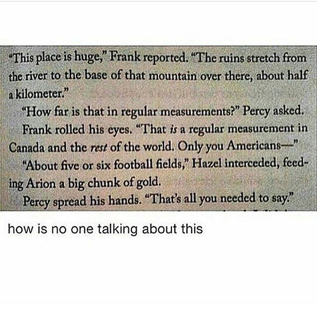 I saw this when I read it and died laughing. Why don't the USA use the regular measurement ?