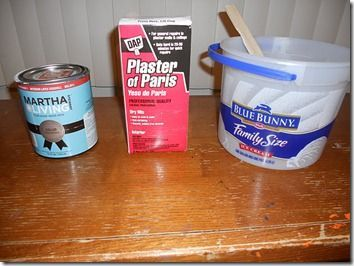Homemade Chalk Paint. If you have bought it, it's expensive. Heard this formula w/ Plaster of Paris works well.