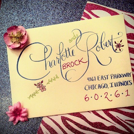Colorful Envelope Calligraphy | Calligraphy by Jennifer