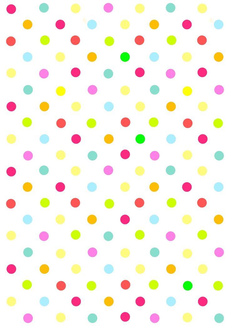 Free digital multicolored polka dot scrapbooking paper - ausdruckbares Geschenkpapier - freebie | MeinLilaPark – digital freebies