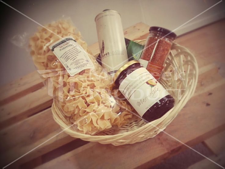 Basket gift.....with traditional Greek products...