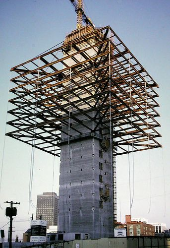 Vancouver BC 1968 - Westcoast Transmission Building - cable-suspended earthquake-resistant - Rhone & Iredale Architects | by edk7