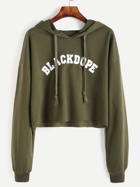 Blackdope Raw Hem Crop Sweatshirt - Zooomberg