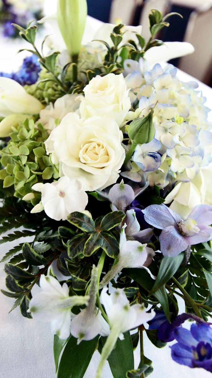 blue white and green wedding arrangements seattle wa wedding flowers pinterest wedding. Black Bedroom Furniture Sets. Home Design Ideas