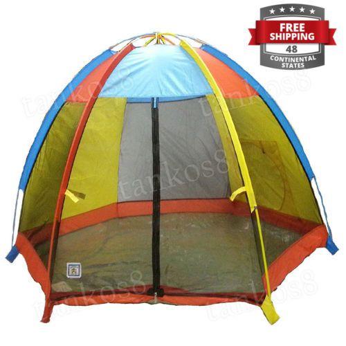 Colored-Play-Tent-Kids-Fun-Windows-Zippered-Door-Storage-Bag-Playhouse-Children