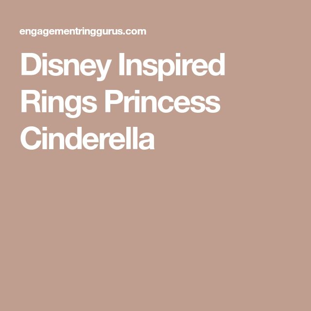 Disney Inspired Rings Princess Cinderella