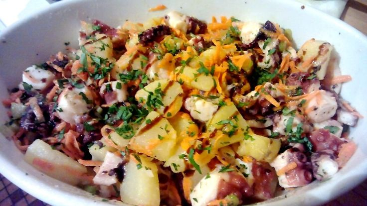 Ensalada de pulpo, Ensalada de pulpo y patatas, Ensalada de pulpo templada, recetas de cocina italiana, recetas de comida italiana, recetas italianas, ensalada de pulpo cocido, receta de ensalada de pulpo, hacer ensalada pulpo, Insalata di polipo, Octopus salad italian, Make italian octopus salad, Italian octopus salad recipe