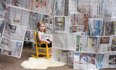 Newspaper cubby house, and many other ideas. kidspot.com.au