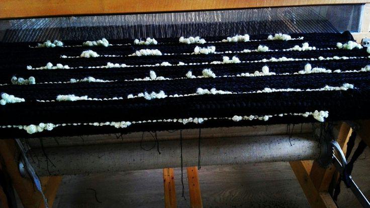 Black velvet and wool