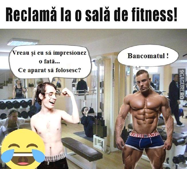 Reclamă la o sală de fitness Link Postare ➡ http://9gaguri.ro/media/reclama-la-o-sala-de-fitness