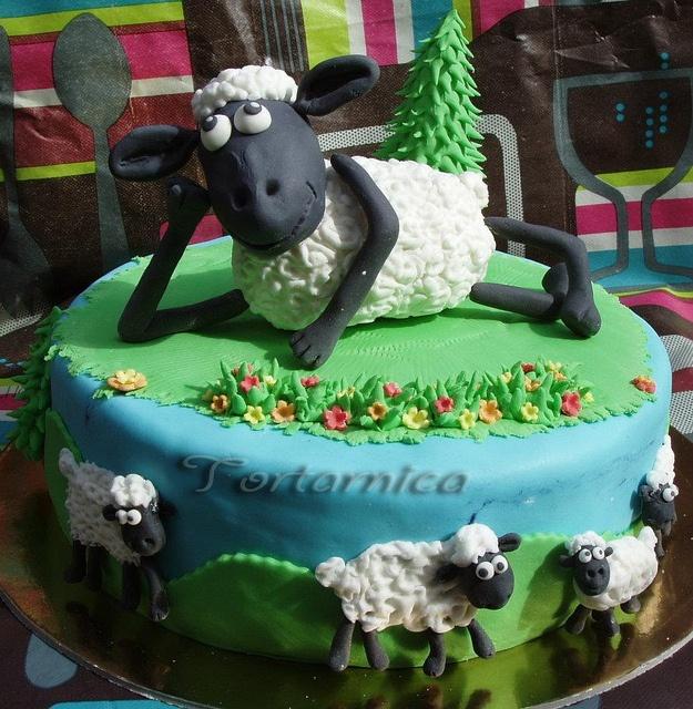 sheep cake by tortarnica