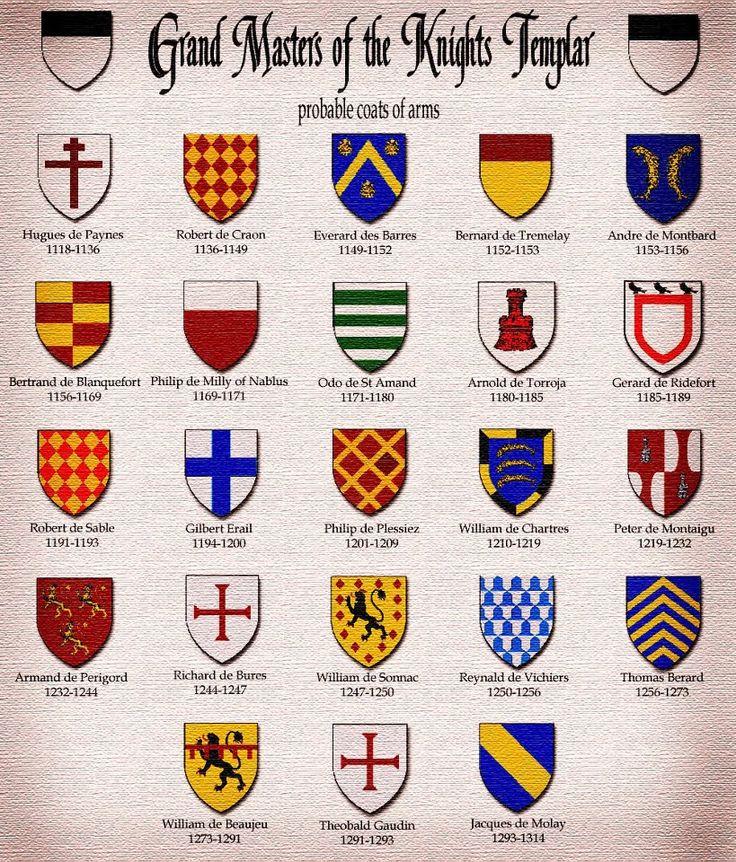Knights Templar:  Grand Masters of the #Knights #Templar.