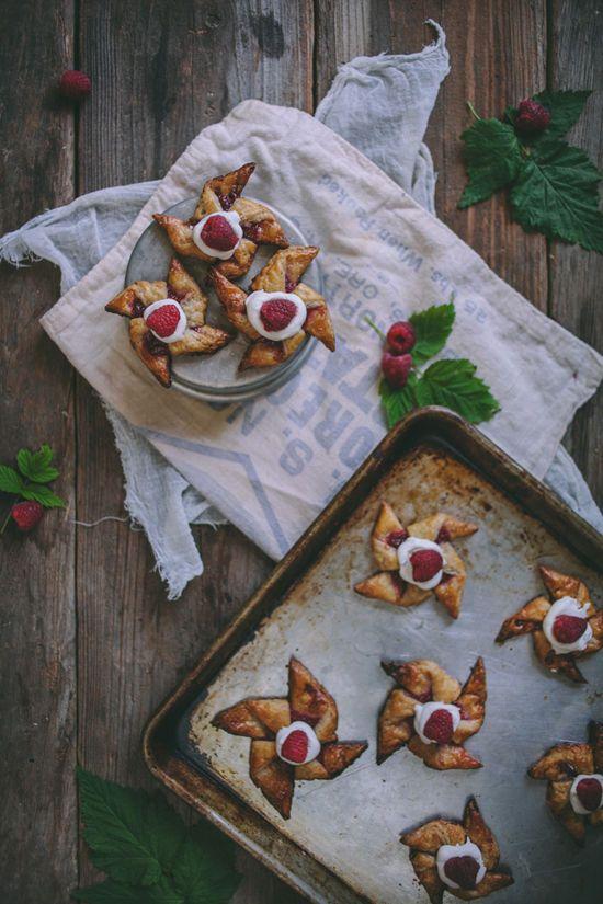 Raspberry & Rhubarb Pinwheels