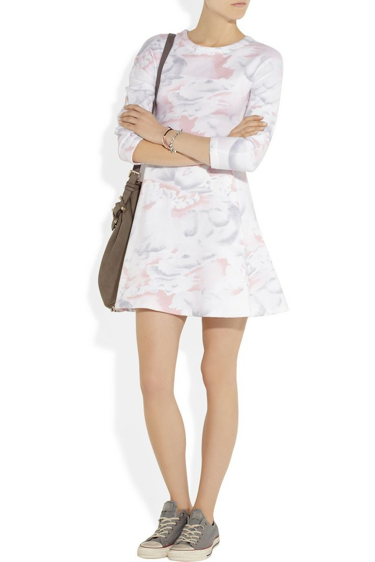 KENZO | Cloud-print cotton-jersey sweater dress | NET-A-PORTER.COM