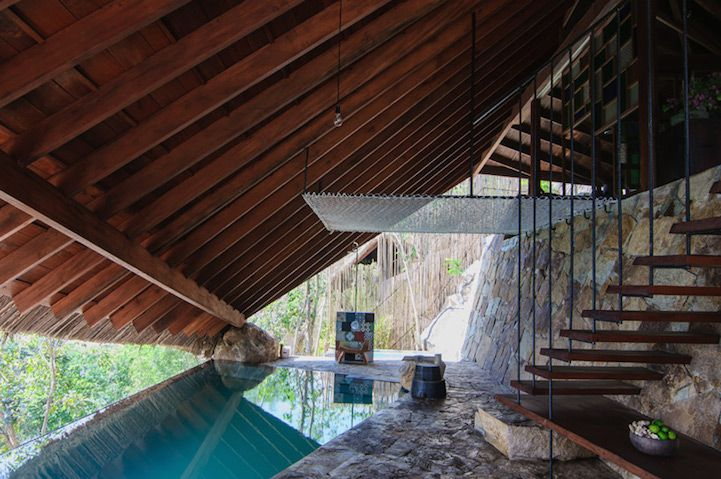 Hot Spring Spa Features a Tent Structure for Private Relaxation - My Modern Met