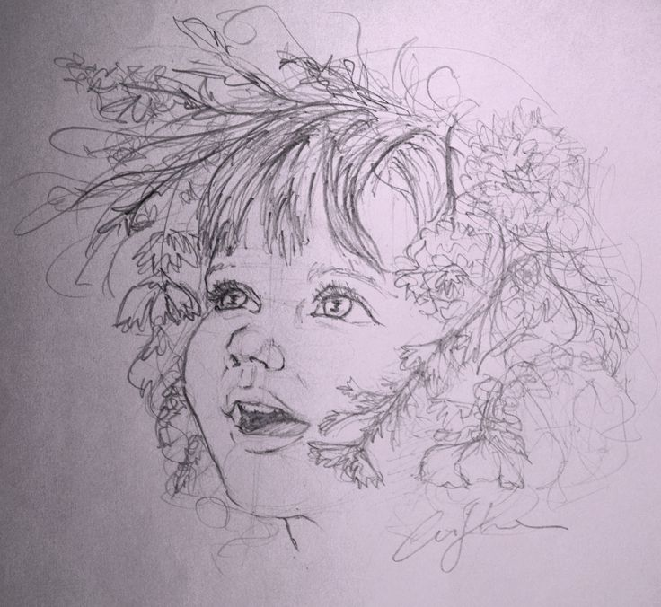 Portrait of a little girl, Cristina Forte on ArtStation at https://www.artstation.com/artwork/portrait-of-a-little-girl