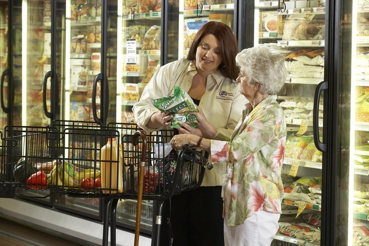 Grocery Shopping/Errands - Our Comfort Keepers shop for groceries at stores of their clients' preference and run errands, such as picking up prescriptions or going to the post office. Clients may choose to stay home or help with the shopping and errands as an excellent way to stay active and engaged.