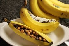 We call these Bannana boats!  They've been a family favorite over the years!