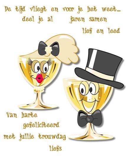 Gefeliciteerd met jullie trouwdag