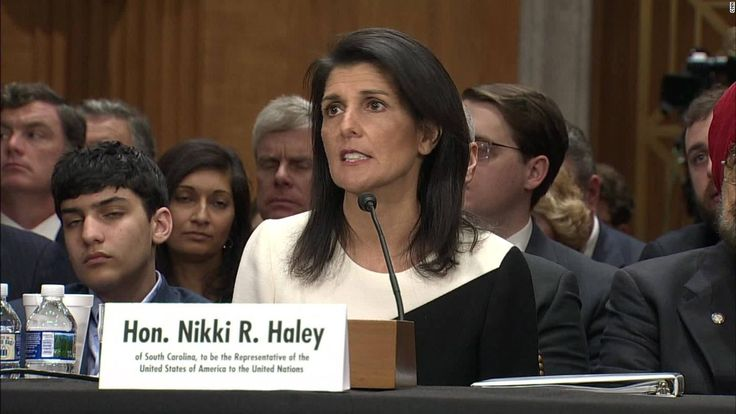The Senate voted Tuesday to confirm Nikki Haley as ambassador to the United Nations, making her the fourth member of President Donald Trump's Cabinet to be approved even as Republicans and Democrats battle angrily over the pace of confirmations.