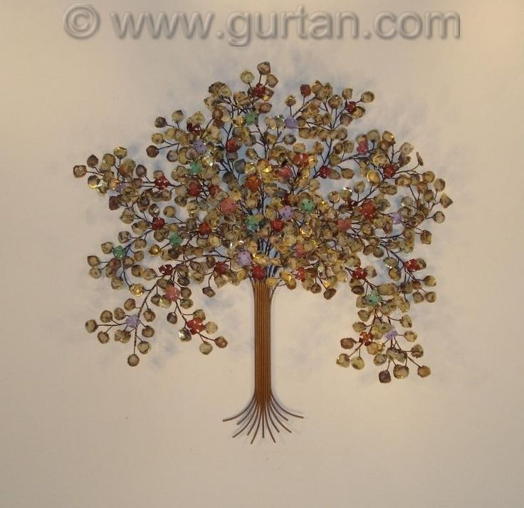 spring blossoms metal tree wall art by gurtan - Metal Tree Wall Decor