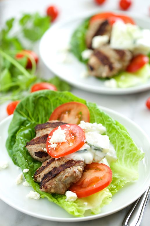 Feta Gyro Burgers with Tzatziki Sauce | Get Inspired Everyday!