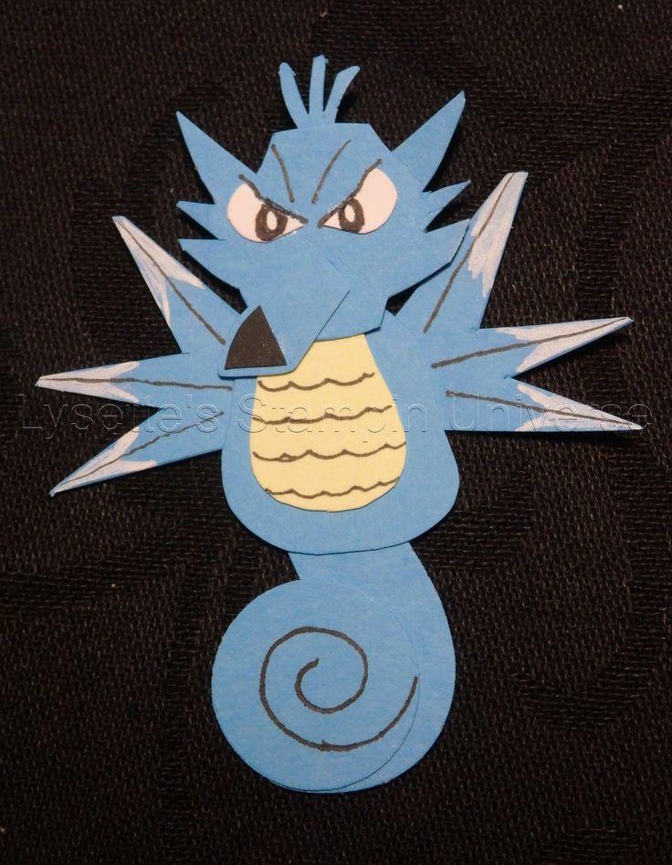 Gotta Craft Them All challenge dag 119: #Seadra #Pokemon https://www.facebook.com/Lysettes.stampin.universe