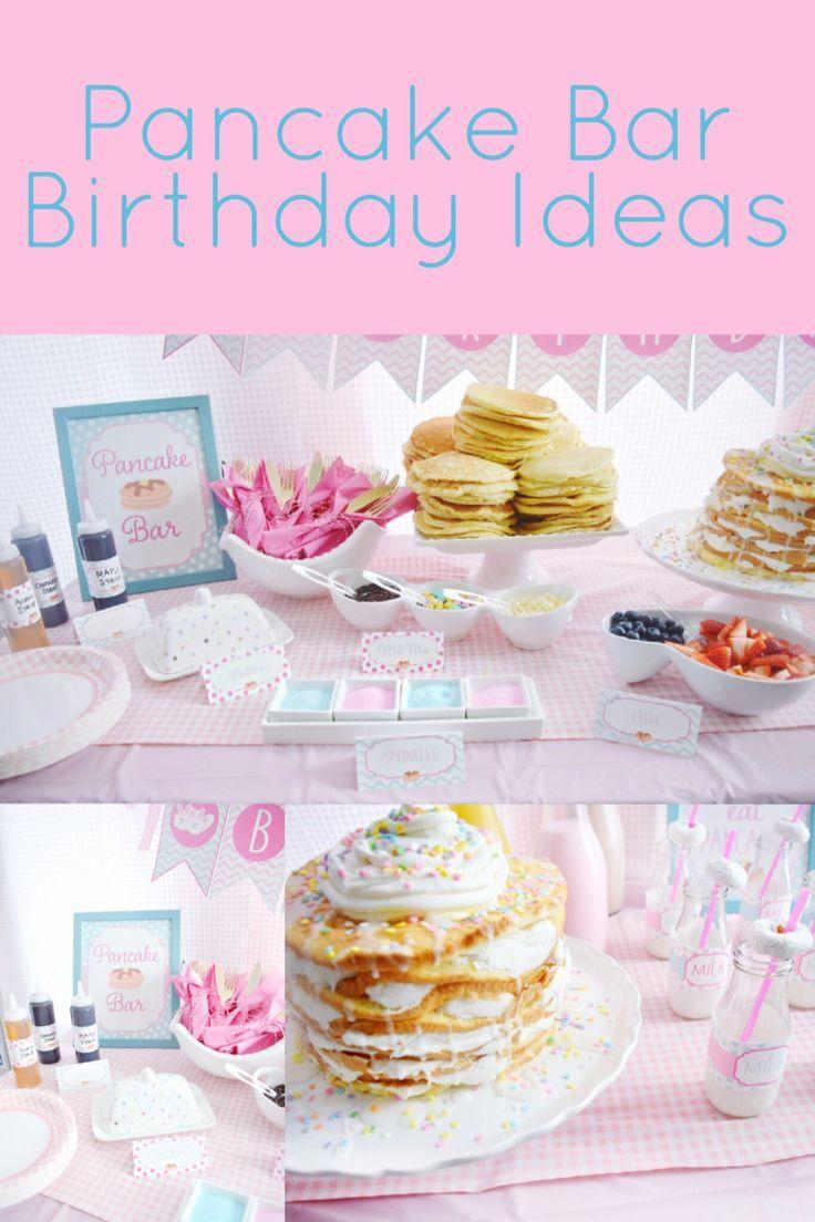 A Preppy Pretty Pancakes And Pajamas Birthday Party We Re The Joneses Birthday Breakfast Party Pajama Birthday Parties Pancake Party