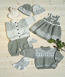 Genser, jakke, kjole, bukse, sokker & lue