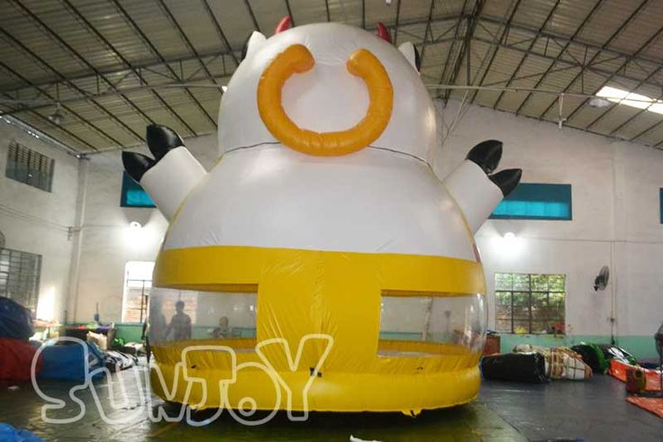 Giant dairy cow inflatable bouncer for kids, new design bouncy jumper for sale at sunjoy.
