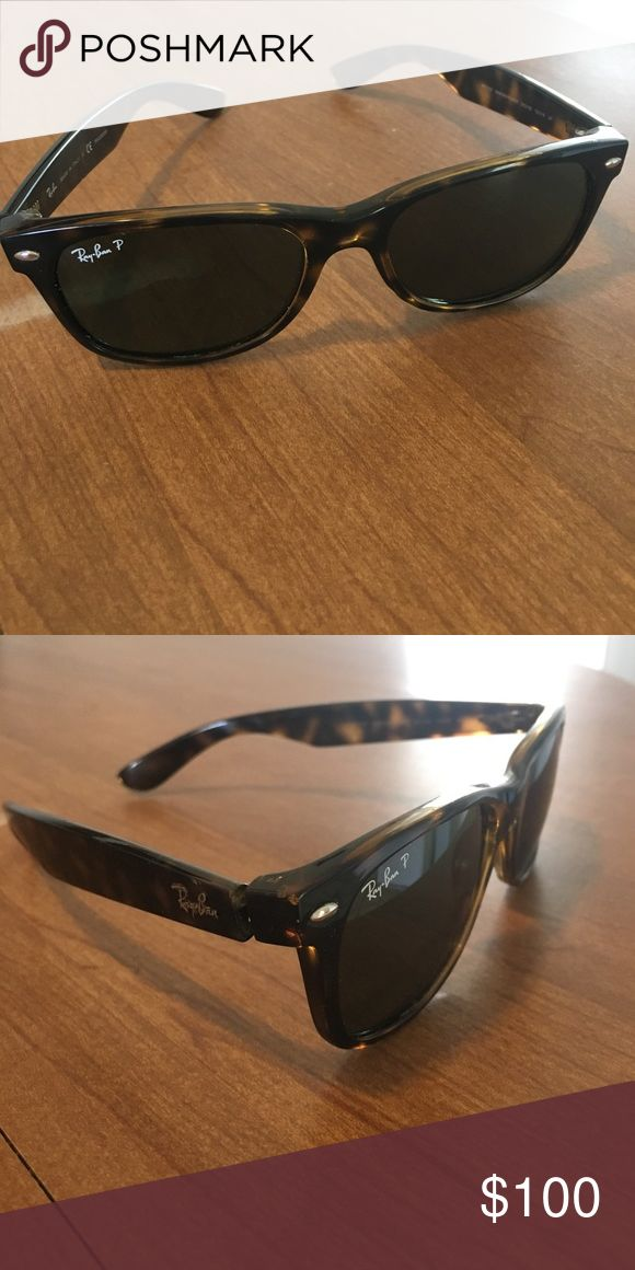 Polarized Tortoise Shell Ray-Ban Wayfarer Bought these because I lost a pair, then ended up finding my old pair. I can include the case and dust wipe upon request. Accessories Sunglasses