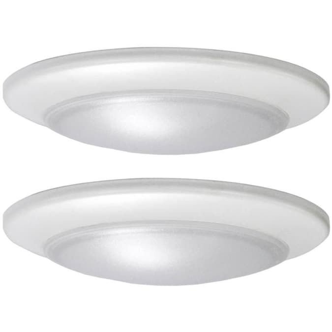 Project Source 2 Pack 7 4 In White Modern Contemporary Led Flush Mount Light Energy Star Lowes Com In 2020 Flush Mount Lighting Led Flush Mount Light Fixtures Flush Mount