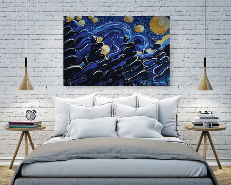 Ode to Van Gogh by Ashely J. Myers. Looks great in any setting! http://artzila.com/collections/myers-ashley-j/products/ode-to-vangogh