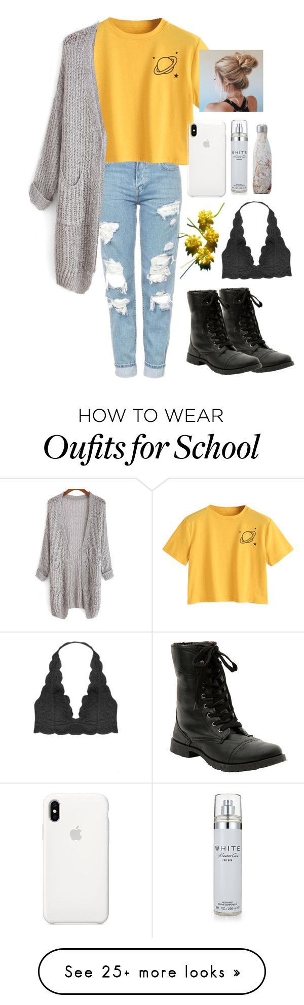 """school"" by whitpit on Polyvore featuring Hot Topic, Humble Chic, Apple, Kenneth Cole and S'well"