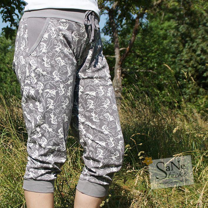 kurze Hose Elfengeflüster grau genäht von SaNe-Stücke