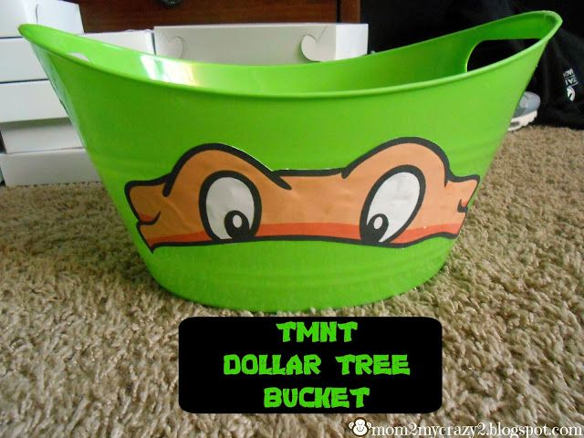TMNT Party Food Bowl (From Dollar Tree)