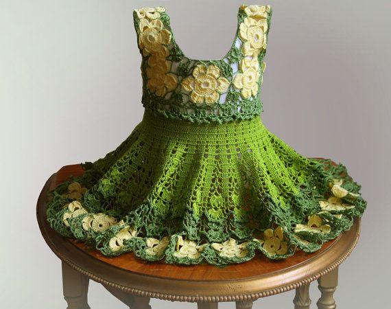 Crochet Pattern / Baby dress