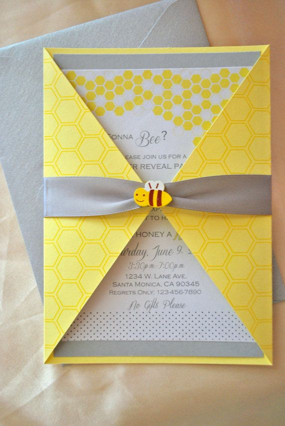 Bee Baby Shower/Gender Reveal Invitation by OuttheBoxCreative