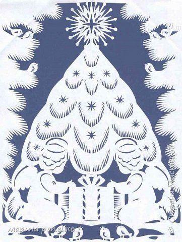 Картина панно рисунок Новый год Вырезание Рождество Бумага фото 3