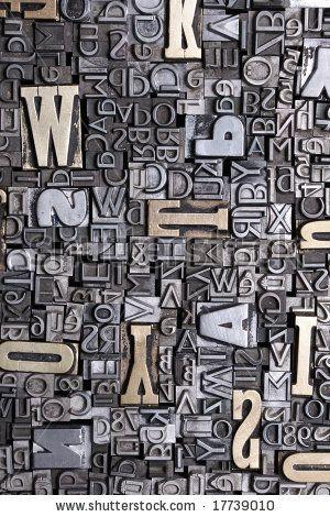 stock photo : letter blocks for lead typesetting