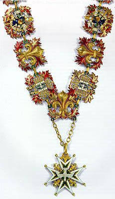 Badge and chain of the Order of the Holy Spirit First half of the 19th century France