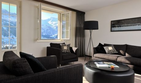The Cambrian   Adelboden - An outdoor thermal pool hypnotically appears as though it is flowing over its own edge to lead its occupants straight into the surrounding soaring mountains. Book Unique hotels up to 70% off. Click on photo. #designhotels