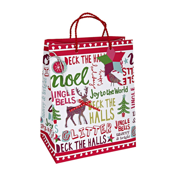 Christmas Slogans Medium BagMedium Bags, Christmas Slogans, Slogans Medium, Christmas Joy, Xmas Ideas