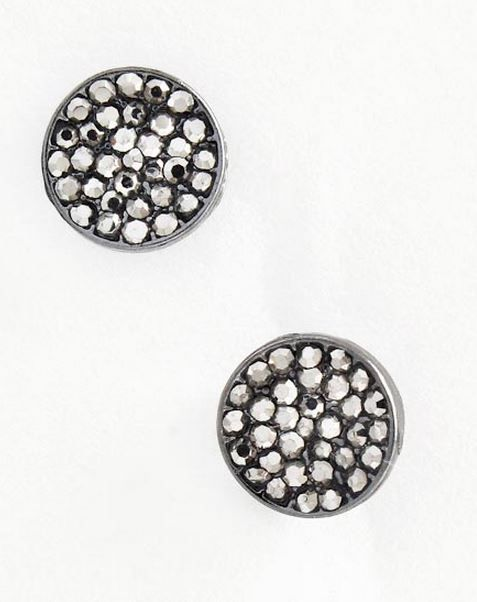 Crystal varnish studs - hematite  Visit blackvelvetcollection/facebook.com to view full spring collection