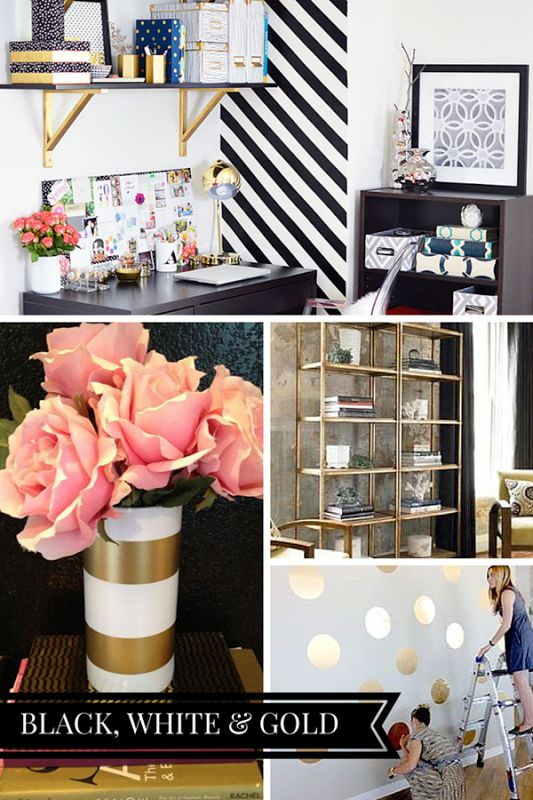 Chic Office Decor best 25+ gold office decor ideas on pinterest | gold office, gold