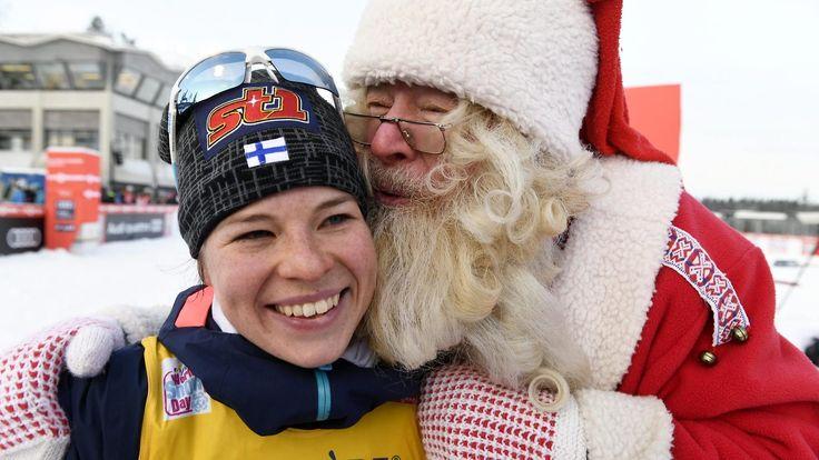 Kuvat: Hiihtosankari Pärmäkoski pääsi joulupukin syliin - Maastohiihto - Hiihtolajit - Sport - MTV.fi